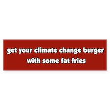 Climate Change Burger Bumper Bumper Sticker