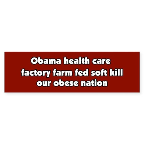 Obama Conspiracy Haiku Bumper Sticker
