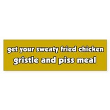 Anti-Fast Food Chicken Bumper Bumper Sticker