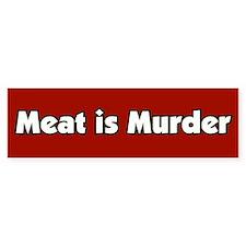 Meat is Murder Bumper Car Sticker