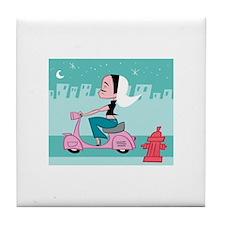 Cute Vespa Tile Coaster