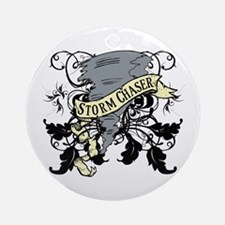 Storm Chasers Banner Ornament (Round)