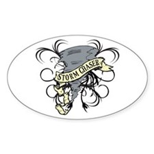 Storm Chasers Banner Oval Decal