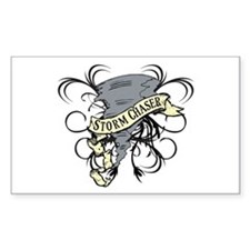 Storm Chasers Banner Rectangle Decal