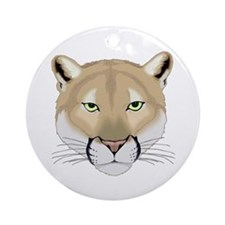Beautiful Cougar Ornament (Round)