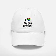 I Love My Gay Brother Baseball Baseball Cap