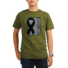 Gray (Believe) Ribbon T-Shirt