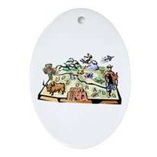 Colorado Map Oval Ornament