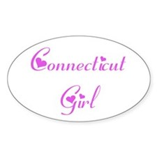 Connecticut Girl Oval Decal