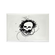 Grunge urban tag skull Rectangle Magnet
