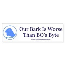 Bark Worse Than Byte Sticker-Navy