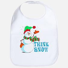 Festive Cartoon Snowman Bib