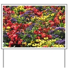 Helaine's Confetti Flowers Yard Sign
