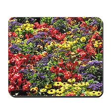 Helaine's Confetti Flowers Mousepad
