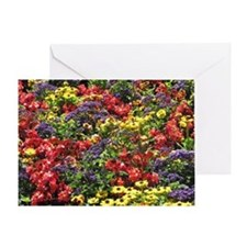 Helaine's Confetti Flowers Greeting Card