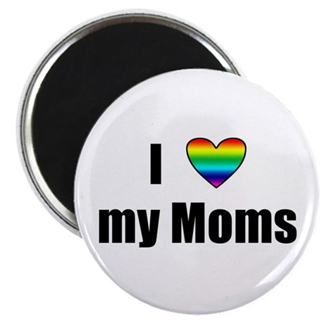 "I Love My Moms 2.25"" Magnet (100 pack)"