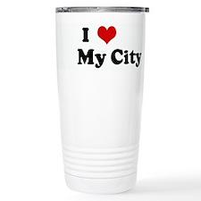 I Love My City Travel Mug