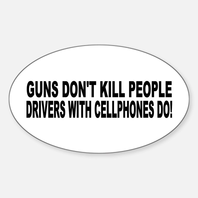 Guns Don't Kill People... Oval Decal