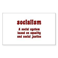 Socialism Rectangle Decal