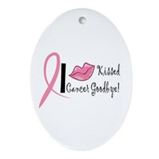 Breast Cancer Survival Oval Ornament