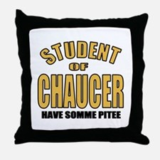 Chaucer Student Throw Pillow