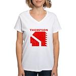 Thompson High Warriors Women's V-Neck T-Shirt