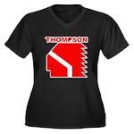 Thompson High Warriors Women's Plus Size V-Neck Da
