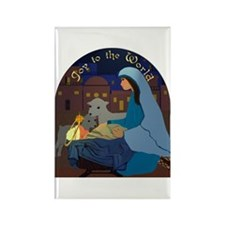 Joy to the World Nativity Rectangle Magnet