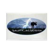 Banff Alberta Canada Rectangle Magnet (100 pack)