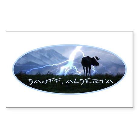 Banff Alberta Canada Rectangle Sticker