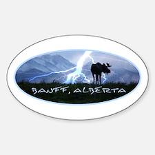 Banff Alberta Canada Oval Decal