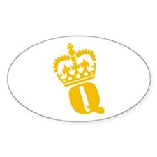 Q - character - name Oval Decal
