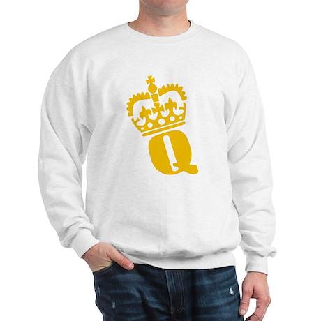 Q - character - name Sweatshirt