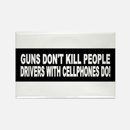 Guns Don't Kill People... Rectangle Magnet