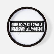 Guns Don't Kill People... Wall Clock