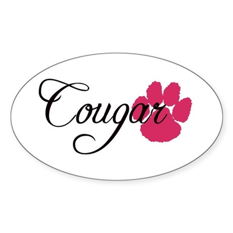 Cougar Oval Sticker