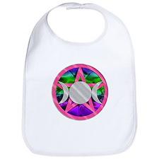 Pink Pentagram Triple Goddess Bib