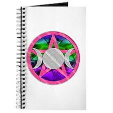 Pink Pentagram Triple Goddess Journal
