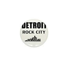 Funny Detroit michigan Mini Button (10 pack)