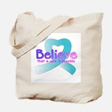 Believe, Prostate Tote Bag