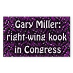 Gary Miller, Kook in Congress bumper sticker