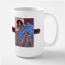 Blue Dress Large Mug