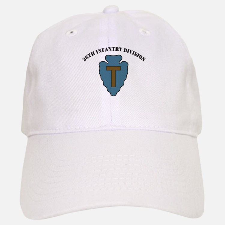 36th Infantry Division with text Baseball Baseball Cap