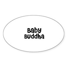 Baby Buddha Oval Decal