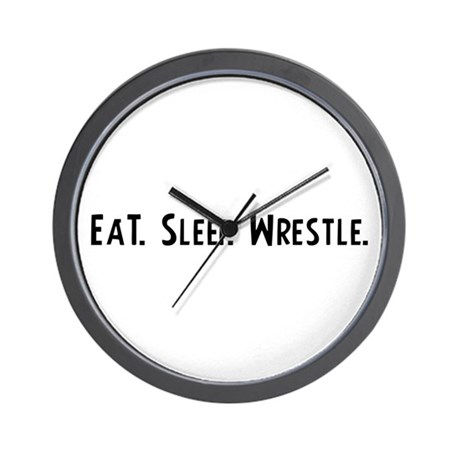 Eat, Sleep, Wrestle Wall Clock
