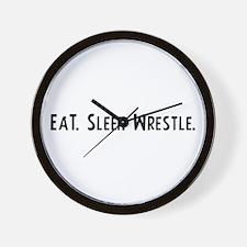 Eat, Sleep, Wrestle Wall Clock