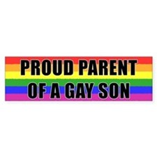 Proud Parent Gay Son Bumper Bumper Sticker