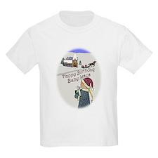 Happy Birthday Baby Jesus Kids T-Shirt