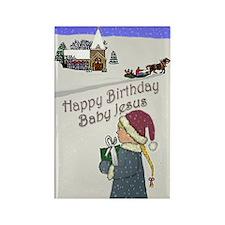 Happy Birthday Baby Jesus Rectangle Magnet