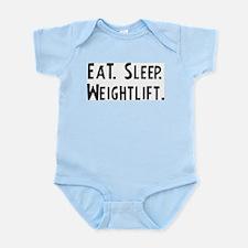 Eat, Sleep, Weightlift Infant Creeper